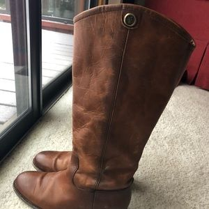Frye Melissa button leather boots